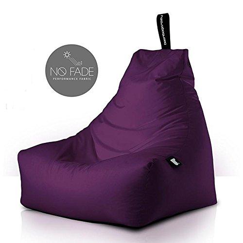 Poltrona a Sacco OUTDOOR - b-bag mighty-b Berry - Resistente all'acqua - 100% Polyester - Resistente UV 7/8