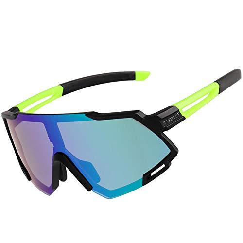 globalqi Polarisierte Fahrradbrille Sport Sonnenbrille Radbrille Schutz Für Unisex, Unzerbrechlicher Rahmen, Für Outdoor-Wie Radfahren Laufen Klettern Autofahren Angeln Golf