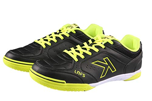 KELME PRO Futsal Soccer Shoes – Indoor Futsal Shoes for Men Youth is The LNFS Main Sponsor (Black/Yellow, 8)