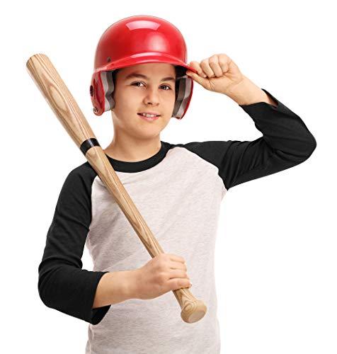 Youper Kids Baseball Jerseys, Youth 100% Cotton 3/4 Sleeves Raglan T Shirts (White/Black - 1 Pack, Medium)