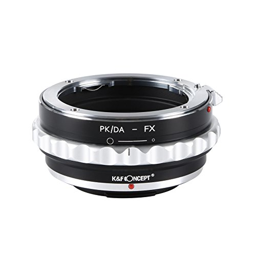 K&F Concept PK/DA-FX Objektivadapter Objektiv Adapterring für Pentax K/M/A/FA/DA Objektiv an Fujifilm X-Mount Bajonett Systemkamera(Fuji Finepix X-T1,X-E2,X-E1,X-A1,X-M1,X-Pro1)