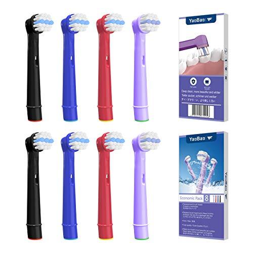 YanBan Cabezales de cepillo de dientes eléctricos de repuesto compatibles con Oral...