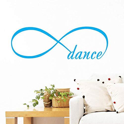 Njuxcnhg Wandtattoos Unendlichkeitssymbol Schlafzimmer Vinyl Aufkleber Schlafzimmer Wohnkultur Dance Infinity Loop Wand Vinyl Schriftzug Dekoration 57X19 cm