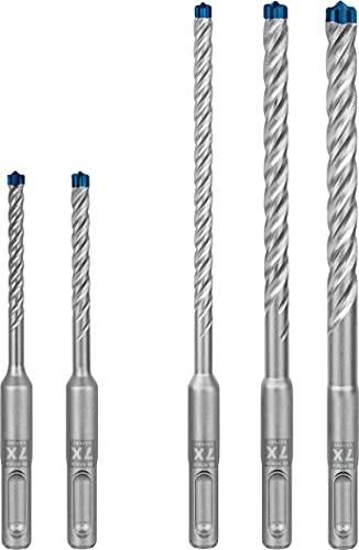 Bosch Professional 5x Expert SDS plus-7X Hammerbohrer Set (für Stahlbeton, Ø 5-10 mm, Zubehör Bohrhammer)