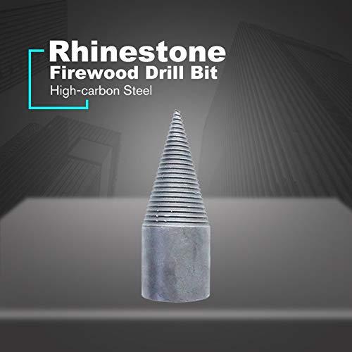 Brennholzbohrer Holzspalter Maschine Kohlenstoffstahl Bohrer Schraube Kegel Rund- / Vierkant- / Sechskantschaft Strassbohrer - Silber