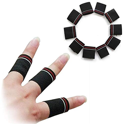 Workouty Finger Sleeve Supports Breathable Basketball Volleyball Finger Brace Protectors Athletic Elastic Finger Tape,10Pack