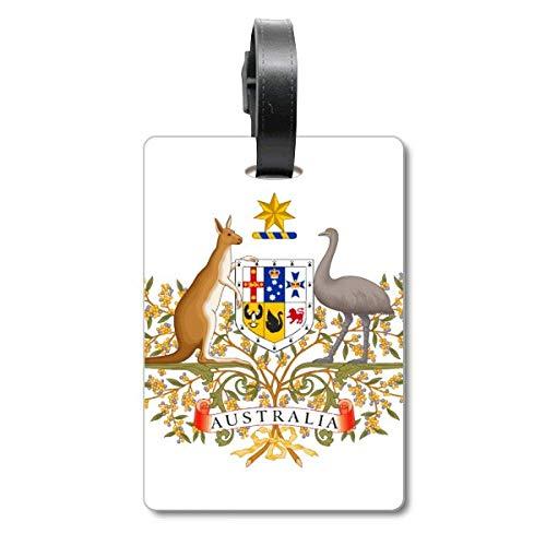 Canberra - Etiqueta para equipaje con emblema nacional de Australia