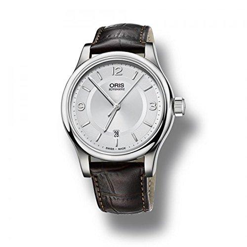 Oris heren automatisch horloge leer Classic Date