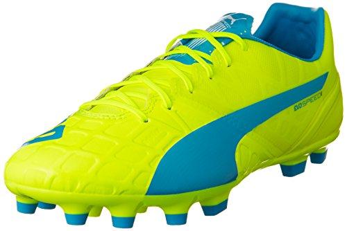 Puma Herren evoSPEED 1.4 AG Fußballschuhe, Gelb (safety yellow-atomic blue-white 04), 42 EU