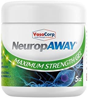VasoCorp Nerve Pain Relief Gel 6oz Used to Accelerate Results with Arthritis Gloves, Back Pain Massagers, Knee Braces, Tennis Elbow Straps, Neuropathy Socks.