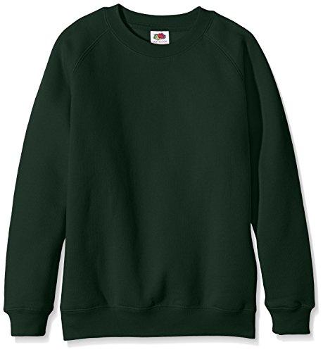 Fruit of the Loom Unisex Kids Raglan Premium Sweater Bottle Green 7 8 Years Manufacturer Size30