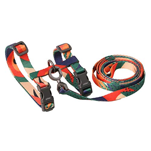 pidan Cat Harness and Leash Set for Walking Escape Proof - Adjustable Pet Harness for Kitten and Small Dogs Lightweight - Multicolor