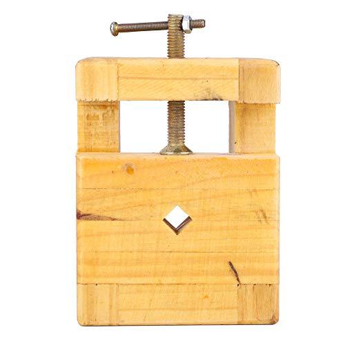 Alicates planos de acero y madera de tornillo de banco de fuerza de sujeción fuerte para sello de sujeción con fondo antideslizante(Large engraved seal bed)