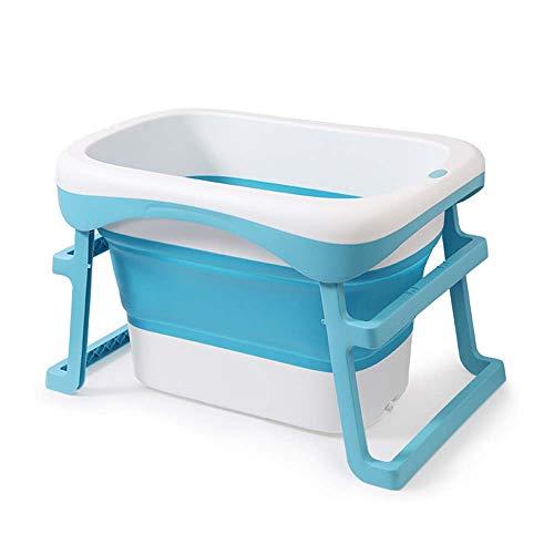 Volwassen Opvouwbare Badkuip MultifunctioneelPolypropyleen (Pp) Badvat Surround Lock Temperatuur/Kan Zitten Dual-Use Badkuip Gezond en Veilig 2 Kleuren size Blauw