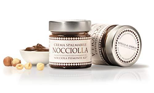 Crema al Gianduia, Nuss-Nougat-Creme mit 40% Haselnüssen Piemont IGP, 250g, Aufstrich, Boella & Sorrisi