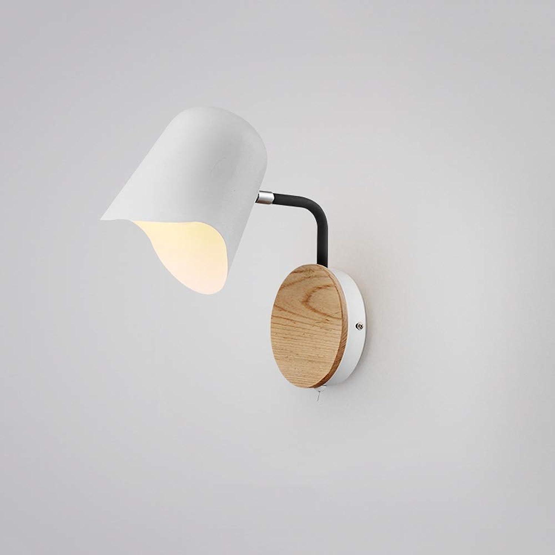 Rindasr Moderne minimalistische Nachttischlampe, wasserdichtes Badezimmerlicht, Eisenkunst-Designdekoration, Spiegelscheinwerfer, Bauernhausschlafzimmerwandlampe (Farbe   Weiß)