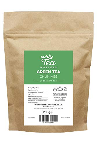 The Tea Masters Lose Blattee Grüner Tee Chun Mee 250g