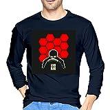 ブルームン Tシャツ 長袖 新世紀エヴァンゲリオン トレーナー シャツ 上着 ファッション カットソー M Navy 綿 メンズ レディース