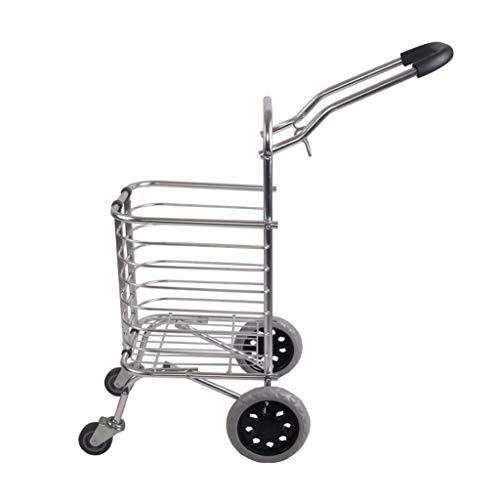 Z-SEAT Klappbarer Einkaufswagen Einkaufswagen auf Rädern , Zusammenklappbarer Welpenwagen Einkaufswagen Kistenbox Utility Cart mit abhebbarem LId, Aluminium-Kinderwagen