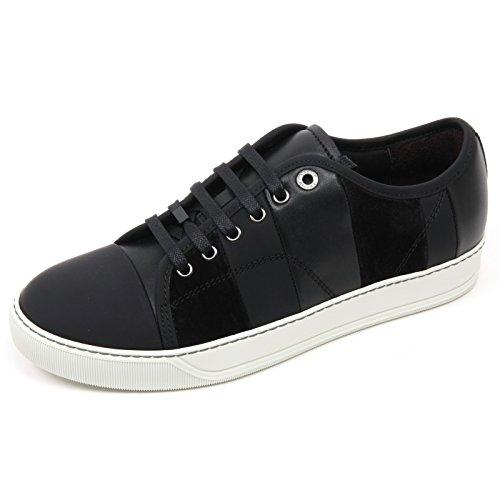 C2886 Sneaker Uomo Lanvin VEGO Scarpa Nero Multi Stripes Shoe Man [6]