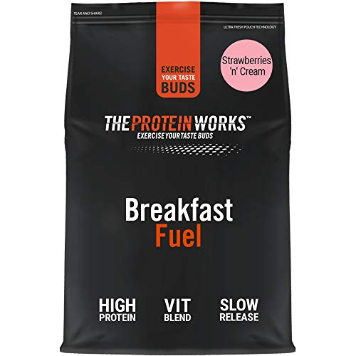 THE PROTEIN WORKS Breakfast Fuel Protein Shake | Rich in Vitamins & Minerals | On-The-Go Breakfast | Strawberries 'n' Cream | 2 Kg