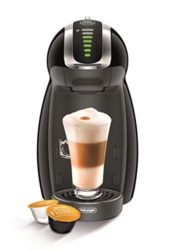 DeLonghi EDG465.B | NESCAFÉ Dolce Gusto Genio|Kapsel Kaffeemaschine|Für heiße und kalte Getränke|15 bar Pumpendruck für samtige Crema|Automatische Wasserdosierung|Mit Flow-Stop Technologie|Schwarz