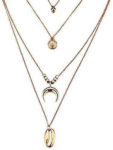 Mxdztu Co.,ltd Collar Vintage Collar de Concha de Concha para Mujer Colgante con Forma Simple Seashell Ocean Beach Jewelry