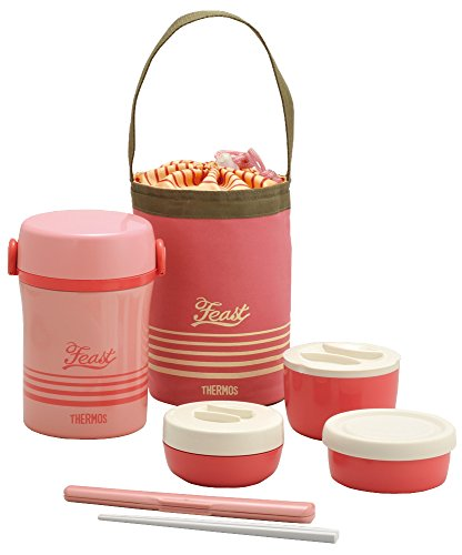 Thermos Stainless Lunch Jar Coral Pink Jbc-801 Cp