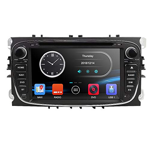 Double Din 17.8cm Lecteur DVD de Voiture GPS Navi Autoradio Bluetooth caméra pour Ford Mondeo Focus S-Max