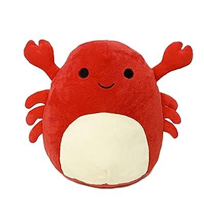 Crab Plush Toy Stuffed Animal Pillow Kawaii Plush Crab Doll Toy Lumbar Back Cushion Plush Stuffed Toy Decoration (H) from Louliou
