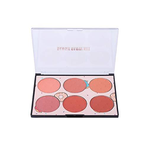 Cosmetico resistente al sudore impermeabile resistente al fard a 6 colori Fard trucco viso(N01#)