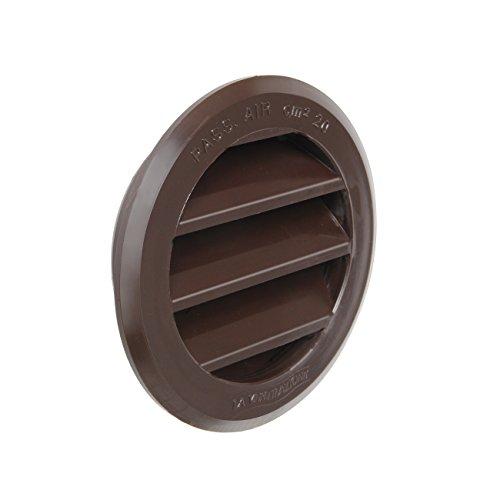 La Ventilazione T63RM Griglia di Ventilazione in Plastica Tonda da Incasso, Marrone, diametro 80 mm