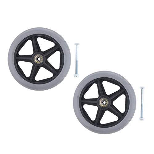 2 ruedas delanteras para silla de ruedas – resistente y antideslizante? Rodamiento de 0,79cm, diámetro completo 15,2cm AOD