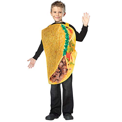 SPUNICOS Kids Funny Taco Costume Lightweight Taco Halloween Costume Fit for Ages 6-10years