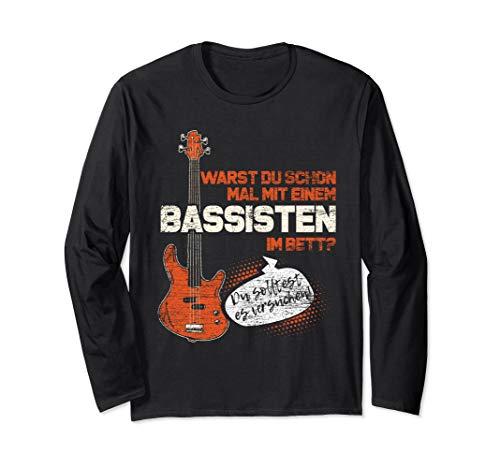Bassist Geschenk Bass Gitarrist Musiker Musik Bass Gitarre Langarmshirt