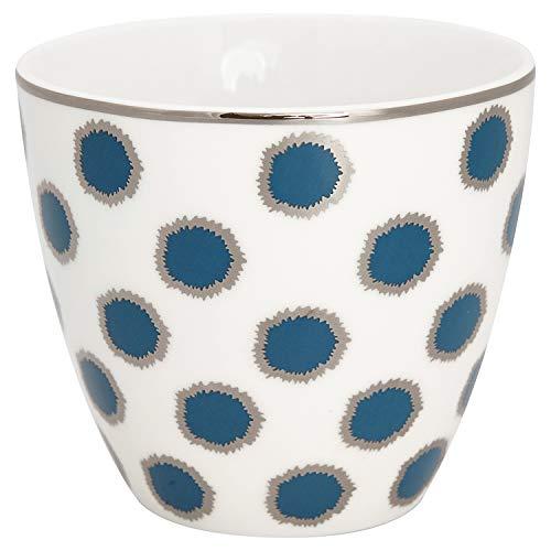GreenGate - Tasse, Becher, Latte Cup - Savannah - Porzellan - blau - 300 ml