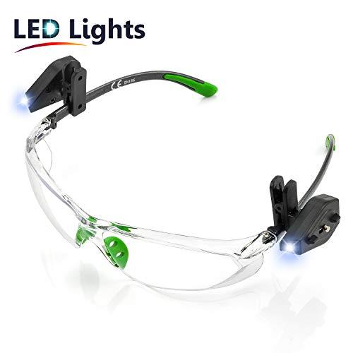 SAFEYEAR Luz LED Gafas Protectoras Hombres Antiniebla