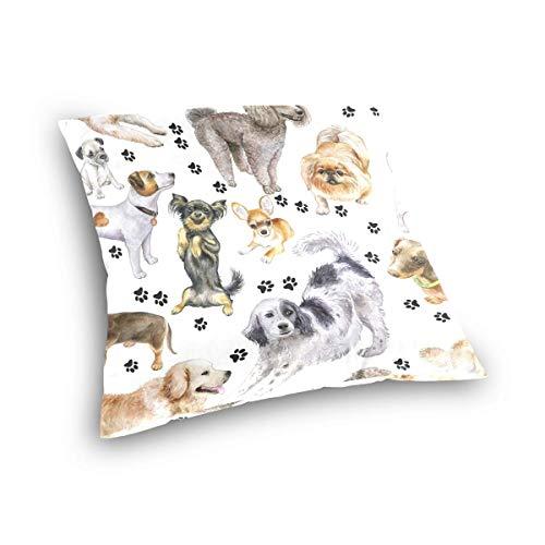 Funda de Almohada para Dormitorio 16x16 Pulgadas Protectores de Almohada Par de Lino Transpirable Materiales de la línea Contton Patrón de Tela de Barro Funda de Almohada