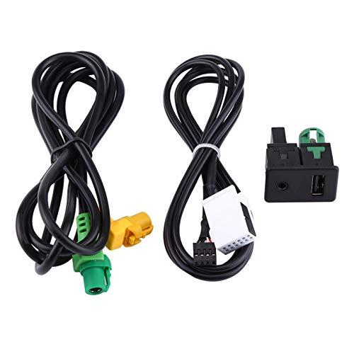 Interruptor AUX para automóvil, Adaptador de cable USB, Toma de interruptor AUX USB para automóvil, Adaptador de cable de arnés de cables para BMW 3 5 Series E87 E90 E91 E92 X5 X6