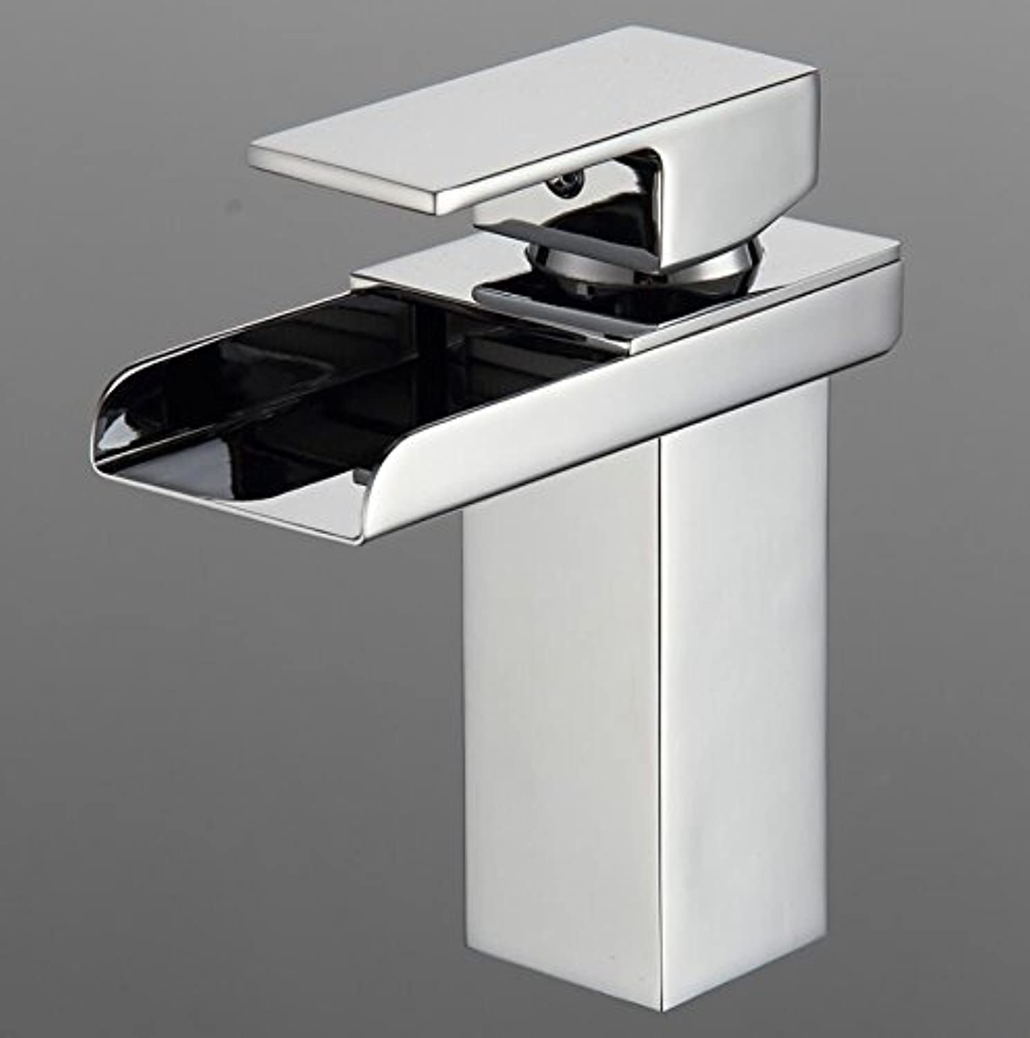 Aawang Sink Faucet Bathroom Waterfall Faucet. Brass Made Chrome Surface Mixer Taps One Handle Deck Mounted Waterfall Tap