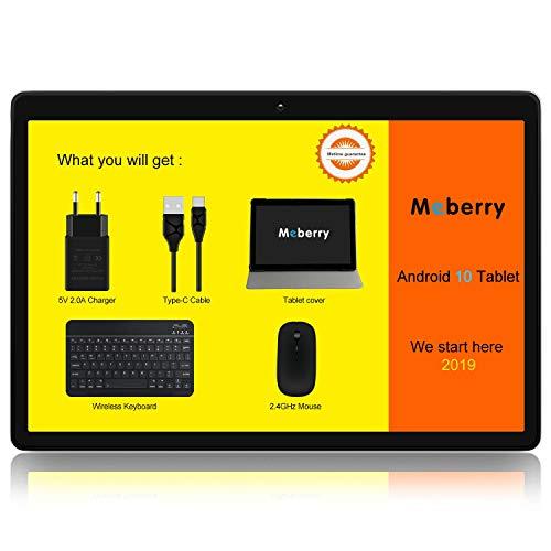 tablet 10 Tablet PC 10 Pollici MEBERRY Ultimo Android 10.0 Pie: Tablet Portatile con 4 GB di RAM+ 64 GB di ROM con Processore Quad- Core- Dual SIM| 8000mAh| WIFI| GPS| Doppia Fotocamera
