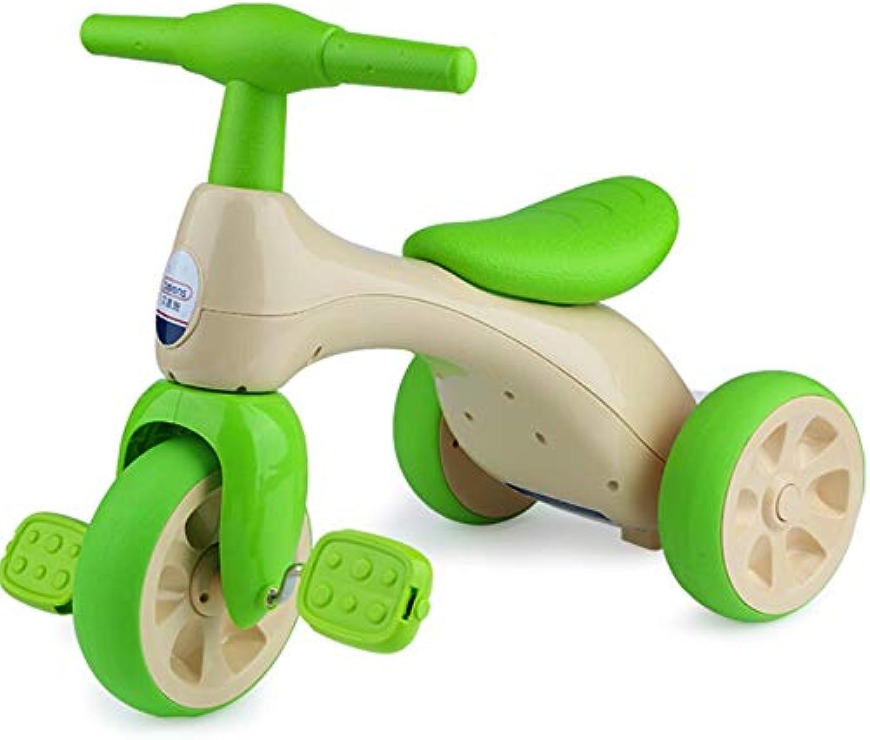 Minmin-chezi Kinderspielzeug Kinder Dreirad Fahrrad 1-3 Jahre alt Baby Spielzeug Kinderwagen Licht frei aufblasbar