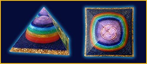 4.5 inch Rainbow Giza Orgone Pyramid