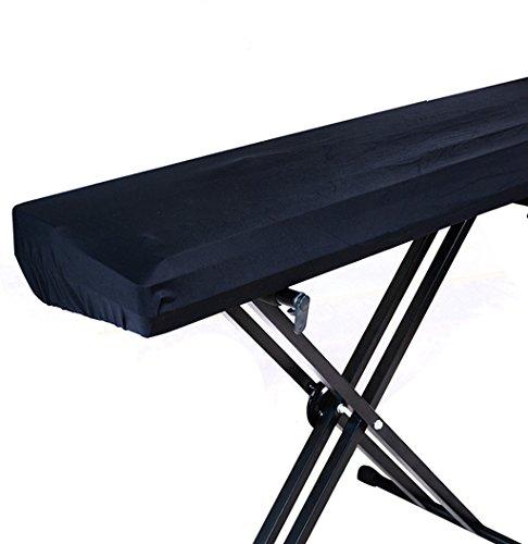 LIGICKY 61 & 73 & 76 Tastatur Klavierabdeckung Dehnbare Elektronische Klavier Abdeckung Klaviertastatur Schutz Staub Abdeckung, schwarz