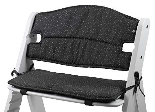 Tinydo® Hochstuhl-Sitzkissen optimal für Hauck Alpha und ähnliche Treppenhochstühle mit Memory-Schaum-Dämpfung Sitzverkleinerer-Auflage für Babystühle rutschfest pflegeleicht (gepunktet)
