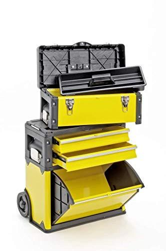 Werkzeugtrolley, 2-fach 1k.2.1 gelb