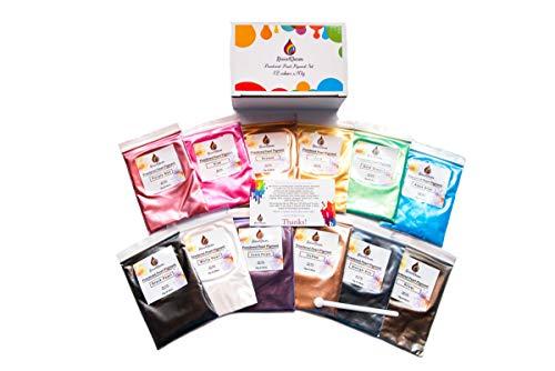 RESIN4DECOR Pigmentos 12x10g Colores Natural Mica Tintes par
