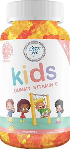 CARSON LIFE #1 for Vitamin C Gummies for Kids - 90 Count - Excellent Vitamin A Supplement - Best Tasting Gummy - Promotes Overall Health, Prevent Colds, Boosts Immune System - Made in The USA
