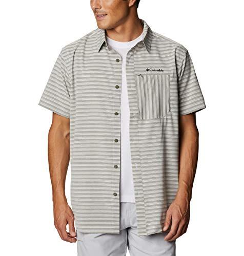 Columbia Men's Twisted Creek II Short Sleeve Shirt, Stone Green, Large