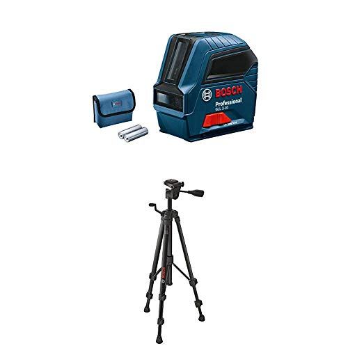 Bosch Professional Livella Laser Con Treppiede BT 150, 3 Pile AA, Raggio D'Azione Fino A 10 m, Confezione In Cartone